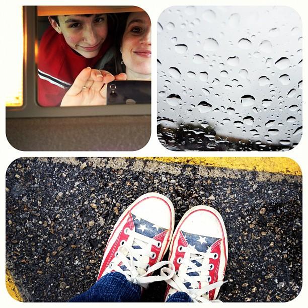 Rainy Saturday #rain #Collage #diptic #shoes #lofi #america #gang_family #iphonetx #instapic #instagram #instadaily #iphoneonly #instagramhub #jj #kids