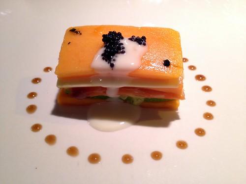 鮭魚千層水果塔