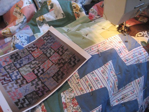 quilting with a map