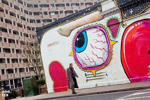 London Street artist Sweet Too Mural in London. Photo ©Hookedblog / Mark Rigney