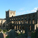Jedburgh Abbey - church from NW