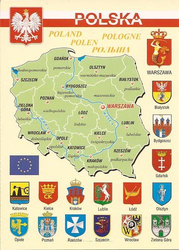 Poland mapcard