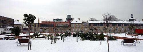 Square Line Porcher sous la neige Panoramique
