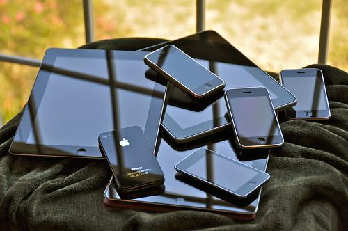 the iOS family pile (2012)