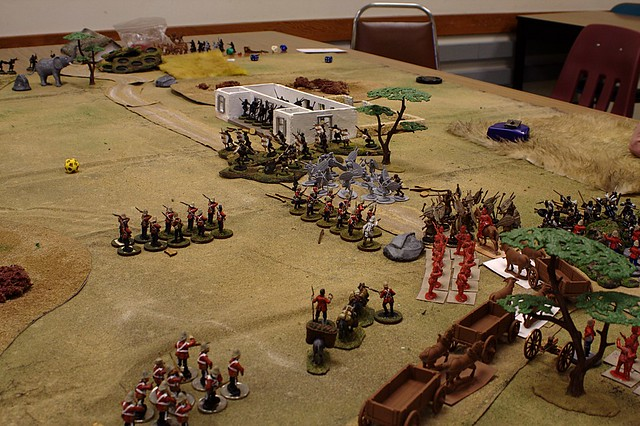 Skirmishing across the front