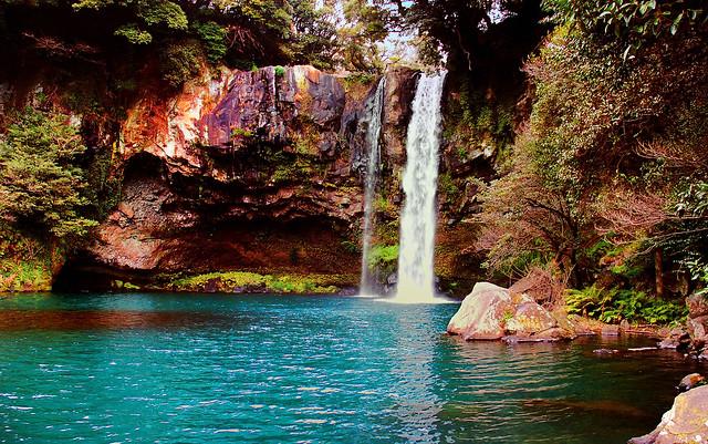 Waterfall at Jeju Island