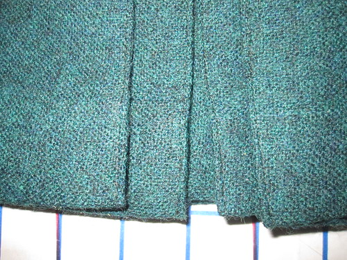 Pleat Topstitching