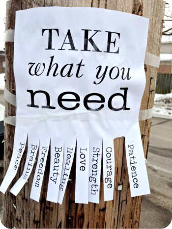Take what you need poster