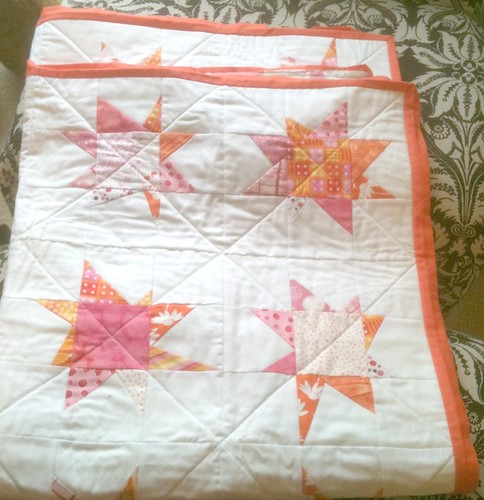 wonky stars quilt - almost finished!