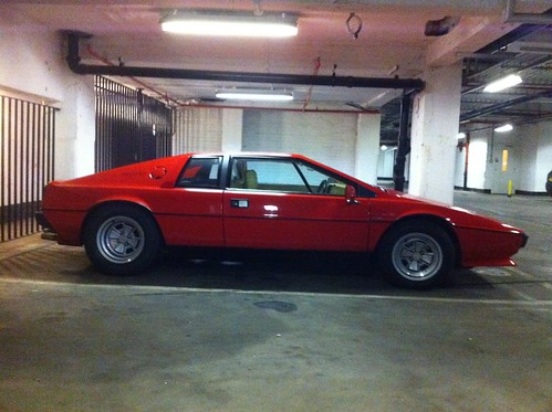 Secret underground government carpark with a Lotus Esprit in it?