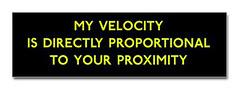 velocityproximity_bumper_bumper_sticker