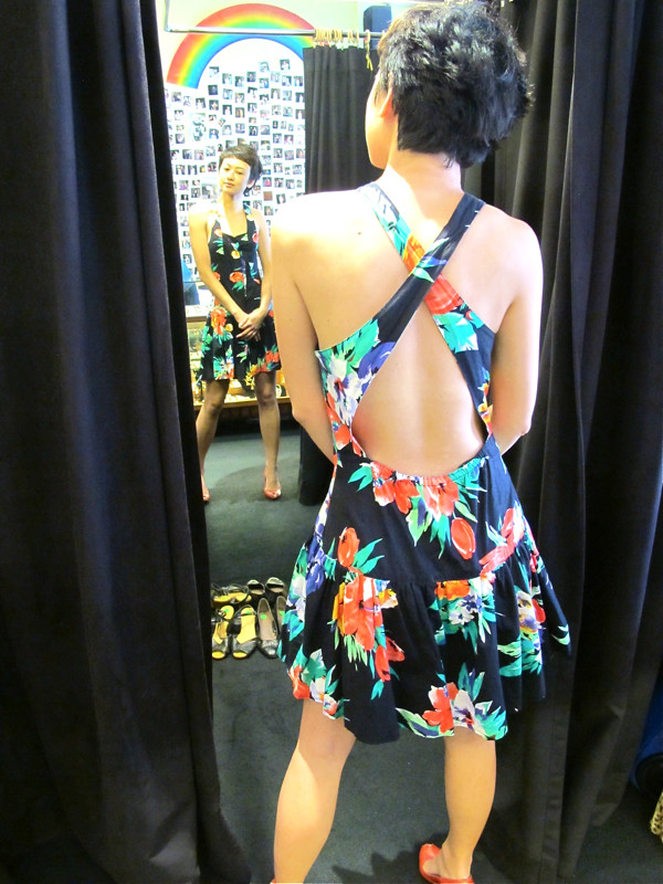 Lovely cross-back floral dress - sexxxxay!