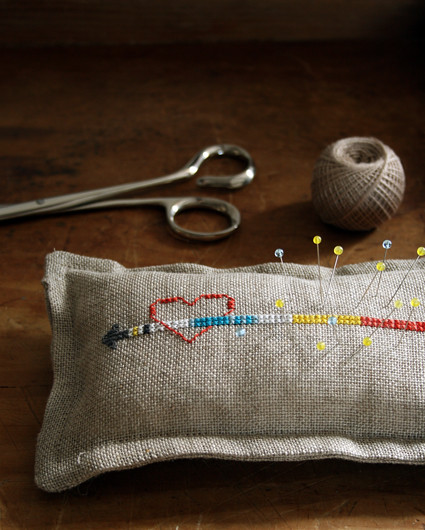 Heart and Arrow Pin Cushion