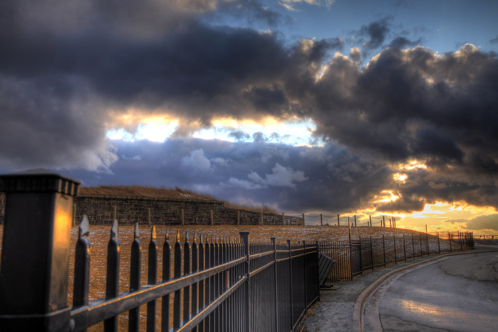 Sunset at the Citadel, Halifax, NS - HDR