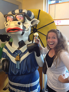 Me and the Cow at Ben and Jerry's