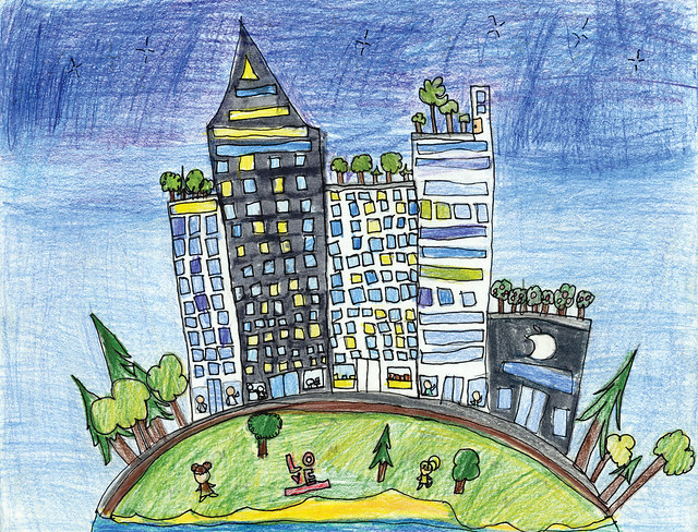 Green City, Clean Waters Art Contest: 1st Place, 6th to 8th Grades