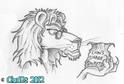 The Lion in the Cinema - pencilled - 02