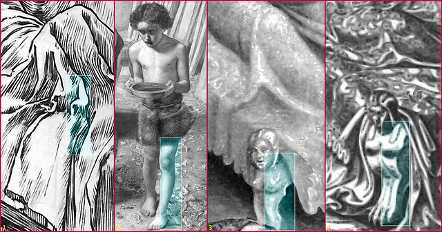 The Dear Uncle's bedsheet, John the Baptist, Henry VIII's bedpost, Ahasureus' bedpost