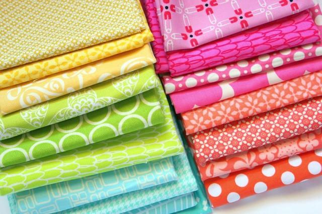 granny square QAL fabrics.