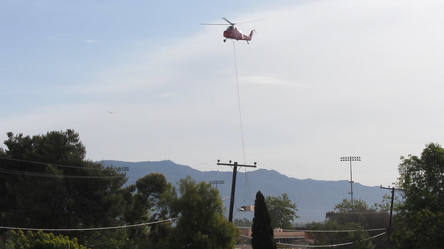 120328 helicopter lifting hvac unit over dos pueblos high school dphs fr mvi1728