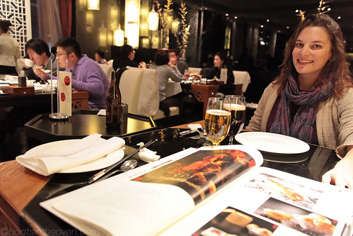 Rachel, modeling and bookmarking pages in the yooge Da Dong menu