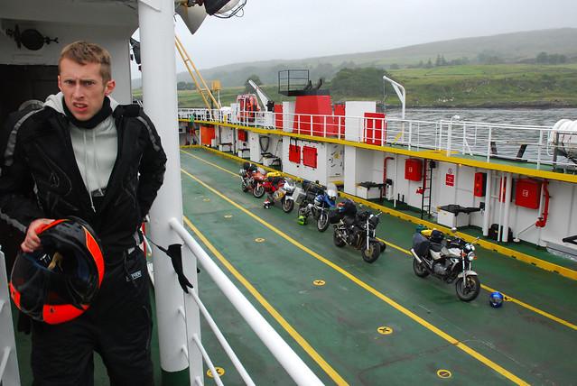 Ben on ferry.