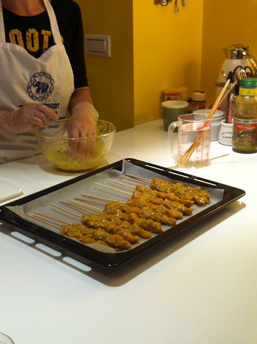 烤香料雞肉串