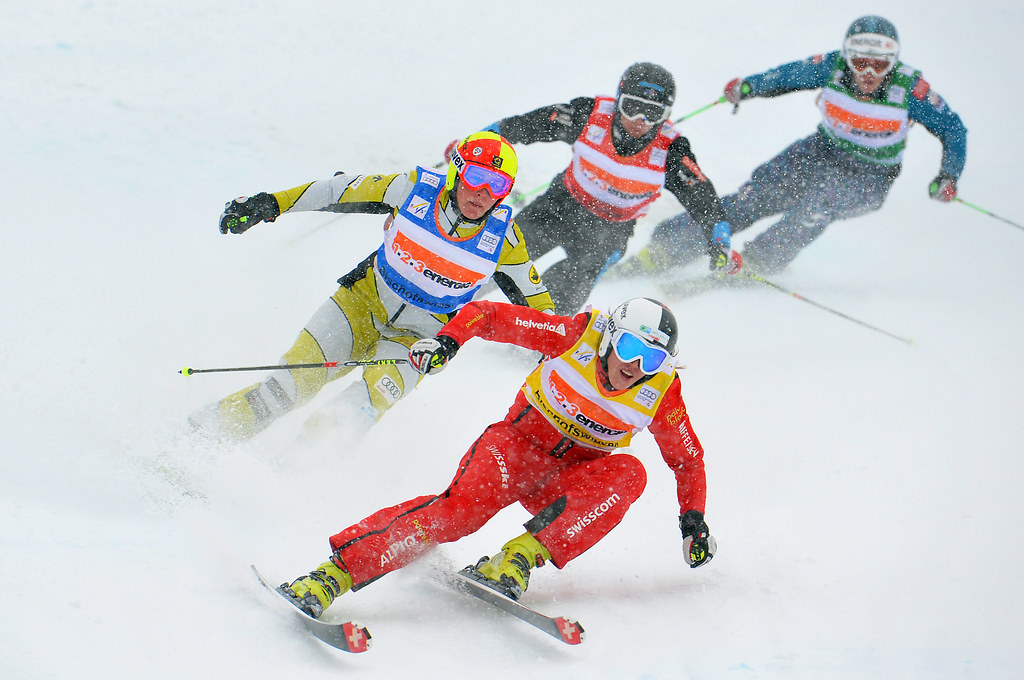 Marielle Thompson races to a third-place finish in World Cup ski cross action in Bischofswiesen/Goetschen, Germany.