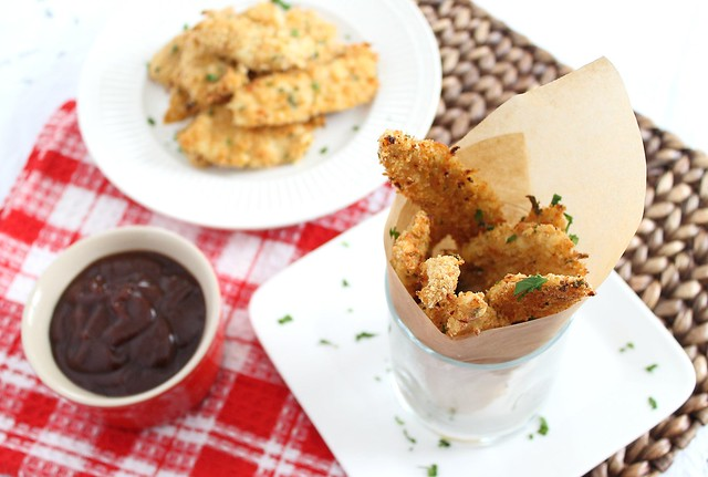 Panko crusted chicken fingers
