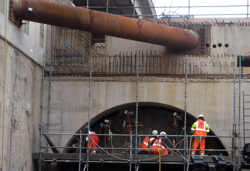 Close up - Men Working on Tunnels - Crossrail