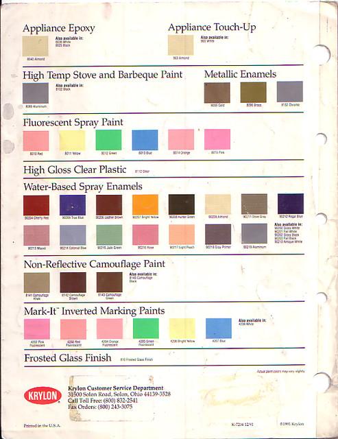 Krylon Color Chart Rebellions