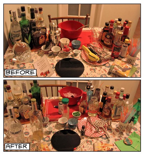 before and after bar table