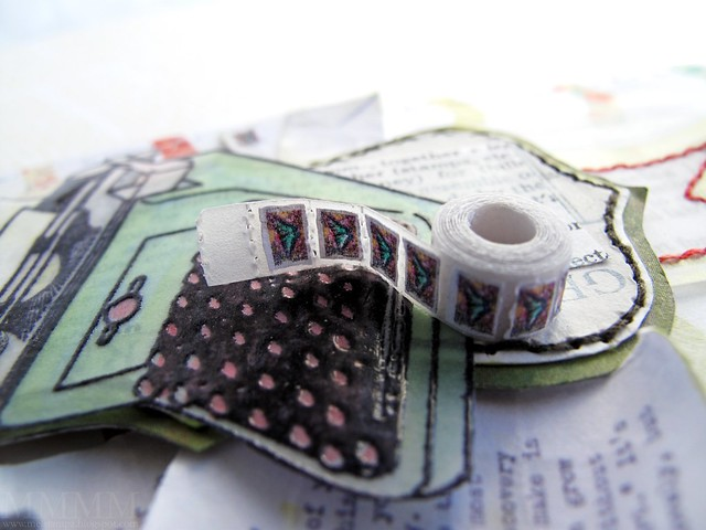 DIY miniature roll of stamps -three eighths of an inch diameter mel stampz