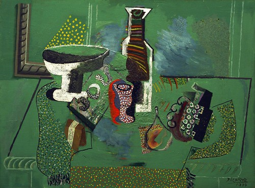 Pablo Picasso - Green Still Life [1914] by Gandalf's Gallery
