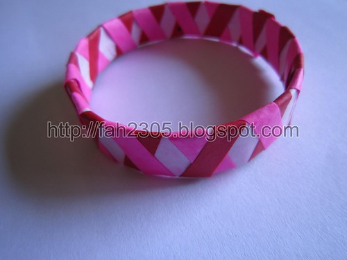 Handmade Paper Cross Style Bangle 2 by fah2305