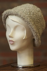 Alpaca Boucle Knit Hat - Cream