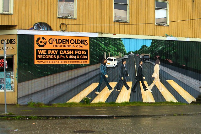 Beatles 39 abbey road wall mural flickr photo sharing for Beatles wall mural