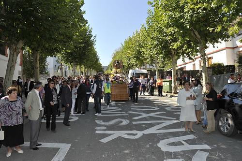 Última procesión en septiembre por las calles de San Rafael. Foto Pedro Merino