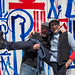 Mark Growden and Doc Pop in front of the RETNA Mural