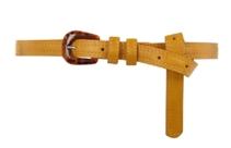 mustard slim belt