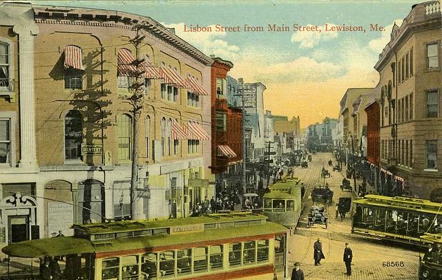 lisbon street from main street lewiston me flickr