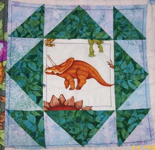 dinosaur quilt square