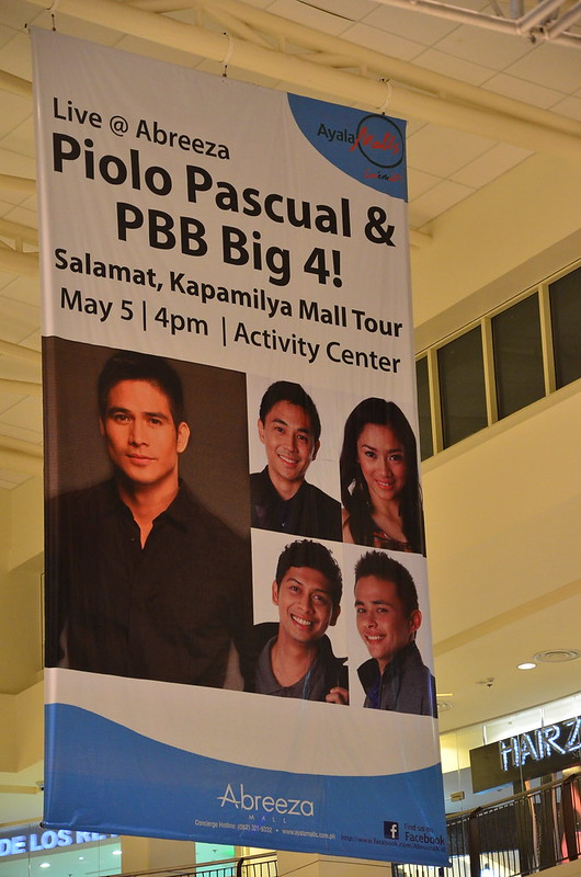 Piolo Pascual and PBB Big 4 Salamat Kapamilya Tour Live at Abreeza Mall Davao on May 5