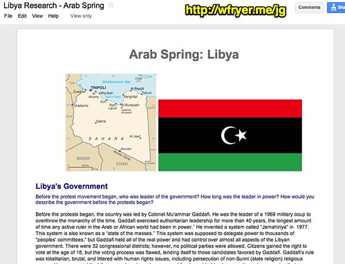 Libya Research - Arab Spring - Google Docs