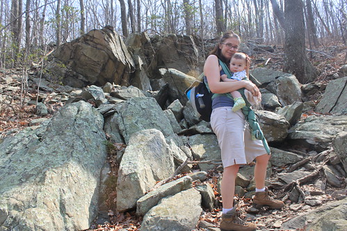 Manassas Gap Hike - Vicky and Sagan on Rocky Trail