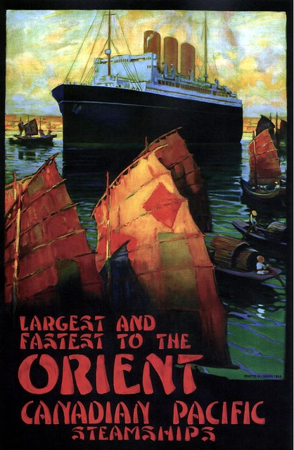 Largest and Fastest to the Orient (CP). 1924