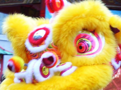 南京町龍獅団による獅子舞