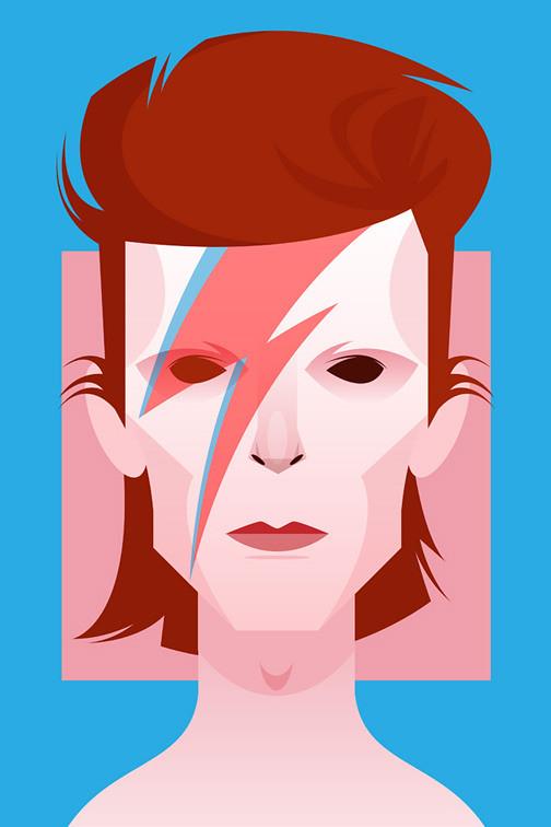 Face da Cultura Pop por Stanley Chow david bowie