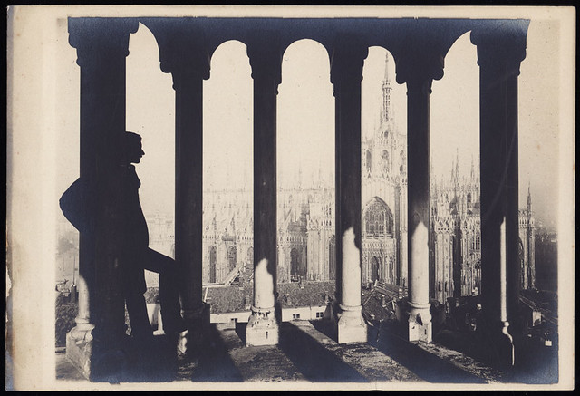 1_ Luca Beltrami sul campanile di San Gottardo in Corte