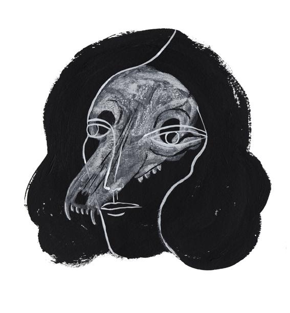 dog skull face